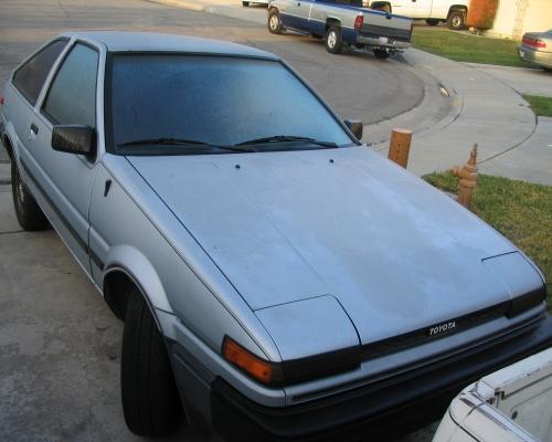 Photo Image Gallery & Touchup Paint: Toyota Corollasport in Light Blue Metallic  (8C7)  YEARS: 1986-1987