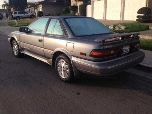Photo Image Gallery & Touchup Paint: Toyota Corollasport in Gray Metallic   (168)  YEARS: 1988-1990