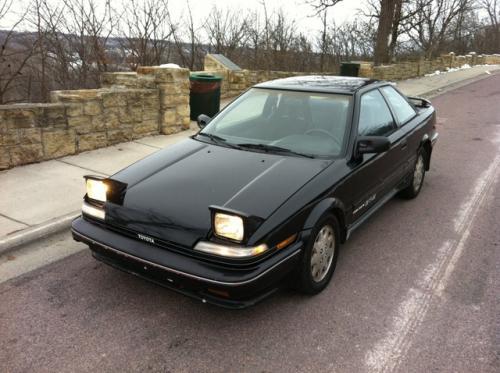 Photo Image Gallery & Touchup Paint: Toyota Corollasport in Black Metallic   (204)  YEARS: 1988-1991