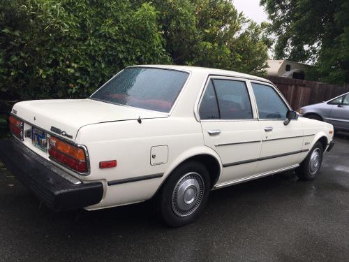 Photo Image Gallery & Touchup Paint: Toyota Corona in White    (033)  YEARS: 1980-1982