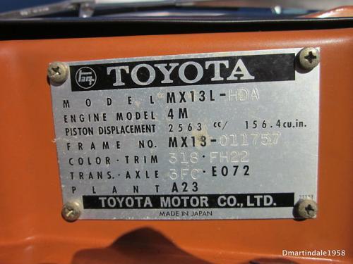 Photo Image Gallery & Touchup Paint: Toyota Coronamkii in Orange    (318)  YEARS: 1974-1974