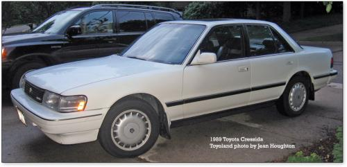 Photo Image Gallery & Touchup Paint: Toyota Cressida in White Pearl   (049)  YEARS: 1989-1992