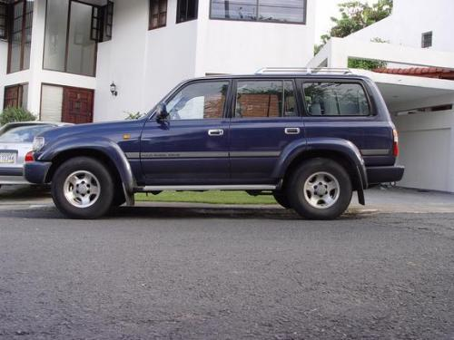 Photo Image Gallery & Touchup Paint: Toyota Landcruiser in Nightshadow Pearl   (8K0)  YEARS: 1995-1997