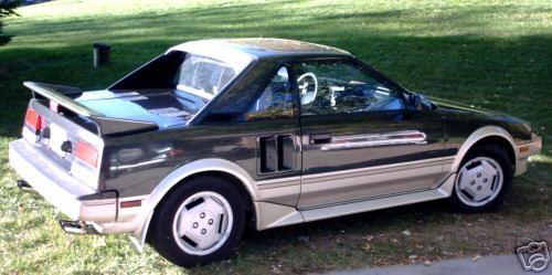 Photo Image Gallery & Touchup Paint: Toyota Mr2 in Dkjade Ltbeige   (2S8)  YEARS: 1986-1986