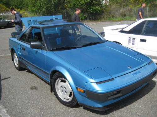 Photo Image Gallery & Touchup Paint: Toyota Mr2 in Light Blue Metallic  (8B8)  YEARS: 1985-1986