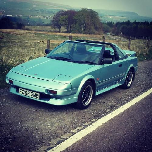 Photo Image Gallery & Touchup Paint: Toyota Mr2 in Ice Blue Pearl  (8G2)  YEARS: 1989-1989