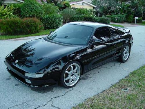 Photo Image Gallery & Touchup Paint: Toyota Mr2 in Black    (202)  YEARS: 1991-1995