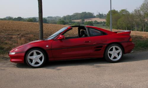 Photo Image Gallery & Touchup Paint: Toyota Mr2 in Super Red   (3E5)  YEARS: 1993-1995