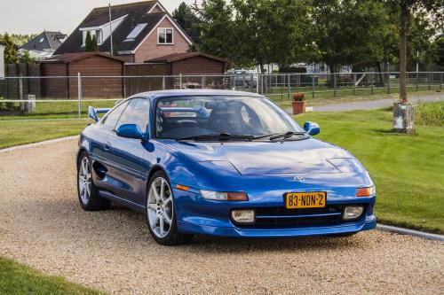 Photo Image Gallery & Touchup Paint: Toyota Mr2 in Tropical Blue Metallic  (8B6)  YEARS: 1994-1995