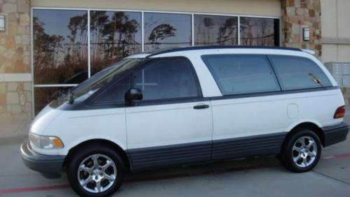 Photo Image Gallery & Touchup Paint: Toyota Previa in White    (041)  YEARS: 1991-1997