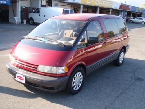Photo Image Gallery & Touchup Paint: Toyota Previa in Garnet Red Pearl  (3J7)  YEARS: 1991-1997