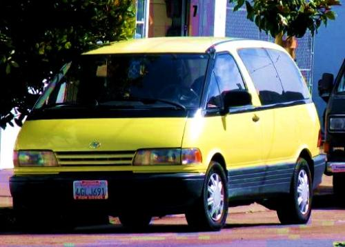 Photo Image Gallery & Touchup Paint: Toyota Previa in Solar Yellow Pearl  (568)  YEARS: 1991-1991