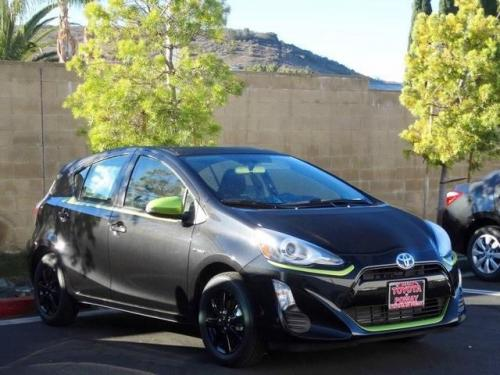Photo Image Gallery & Touchup Paint: Toyota Priusc in Blacksandpearl With Electriclime  (209E)  YEARS: 2016-2016