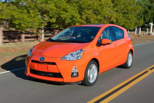 Photo Image Gallery & Touchup Paint: Toyota Priusc in Habanero    (4V7)  YEARS: 2012-2014