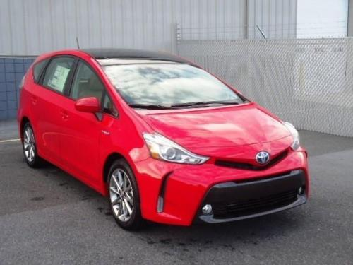 Photo Image Gallery & Touchup Paint: Toyota Priusv in Absolutely Red   (3P0)  YEARS: 2015-2017