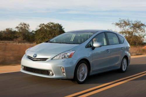 Photo Image Gallery & Touchup Paint: Toyota Priusv in Clear Sky Metallic  (787)  YEARS: 2012-2016