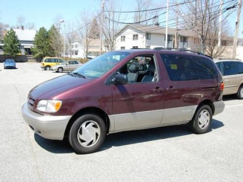 Photo Image Gallery & Touchup Paint: Toyota Sienna in Napa Burgundy Pearl  (3M6)  YEARS: 1998-2000