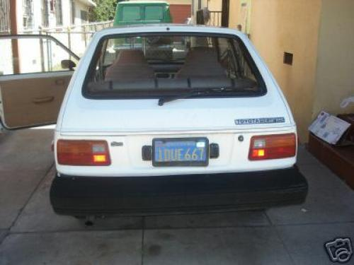 Photo Image Gallery & Touchup Paint: Toyota Starlet in White    (033)  YEARS: 1981-1984