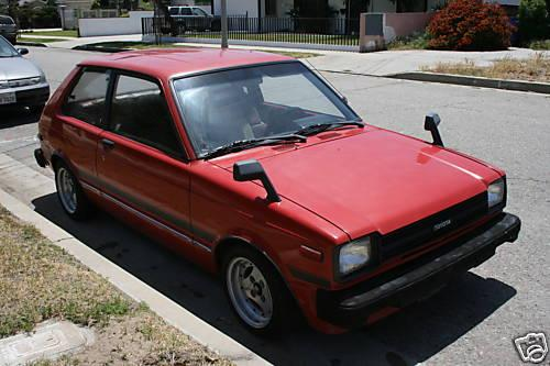 Photo Image Gallery & Touchup Paint: Toyota Starlet in Red    (391)  YEARS: 1981-1984