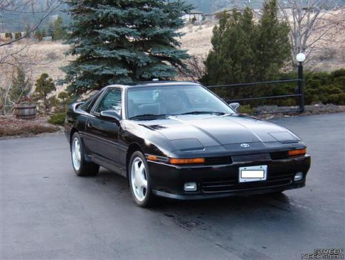 Photo Image Gallery & Touchup Paint: Toyota Supra in Black    (202)  YEARS: 1991-1992