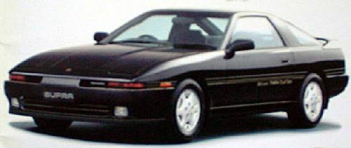 Photo Image Gallery & Touchup Paint: Toyota Supra in Black Ruby Pearl  (206)  YEARS: 1989-1990