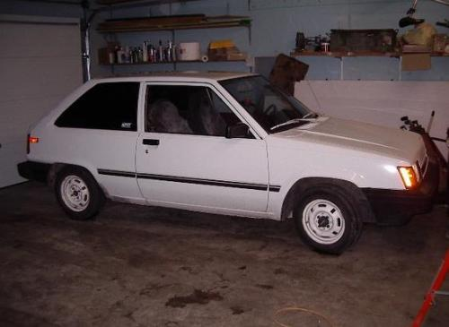 Photo Image Gallery & Touchup Paint: Toyota Tercel in White    (038)  YEARS: 1983-1984