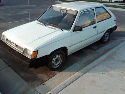 Photo Image Gallery & Touchup Paint: Toyota Tercel in White    (041)  YEARS: 1985-1988