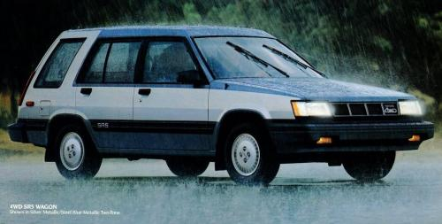 Photo Image Gallery & Touchup Paint: Toyota Tercel in Silver Steelblue   (24B)  YEARS: 1987-1988