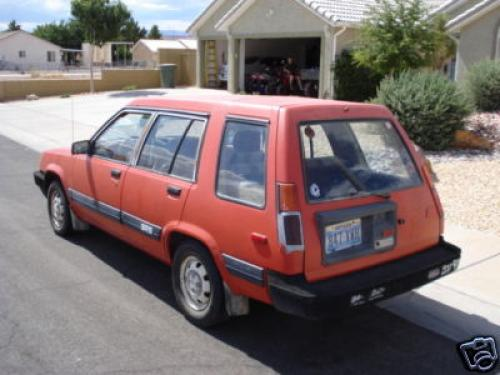 Photo Image Gallery & Touchup Paint: Toyota Tercel in Red    (3E6)  YEARS: 1985-1988