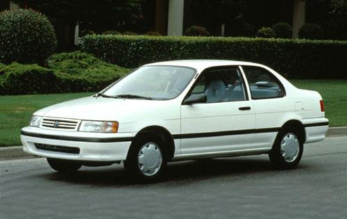 Photo Image Gallery & Touchup Paint: Toyota Tercel in Super White   (040)  YEARS: 1991-1994