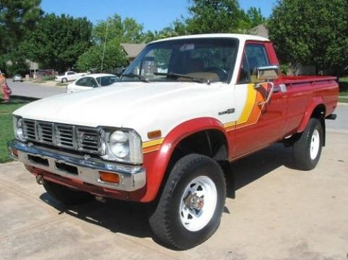 Photo Image Gallery & Touchup Paint: Toyota Truck in Red White   (2A5)  YEARS: 1981-1981