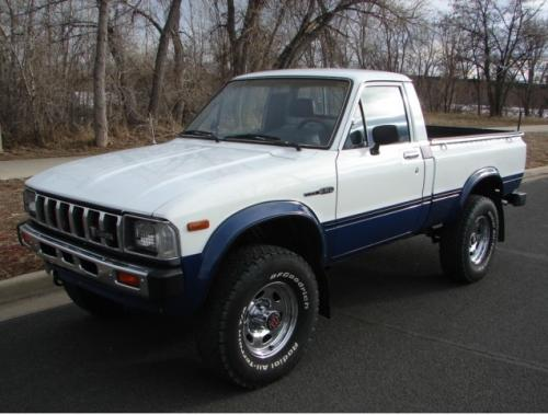 Photo Image Gallery & Touchup Paint: Toyota Truck in White Blue   (2M4)  YEARS: 1983-1983