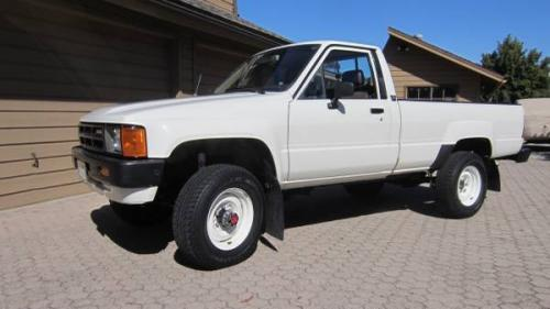 Photo Image Gallery & Touchup Paint: Toyota Truck in White    (033)  YEARS: 1984-1988