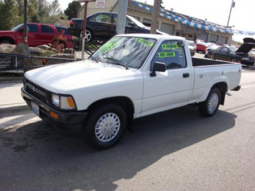 Photo Image Gallery & Touchup Paint: Toyota Truck in White    (045)  YEARS: 1989-1995