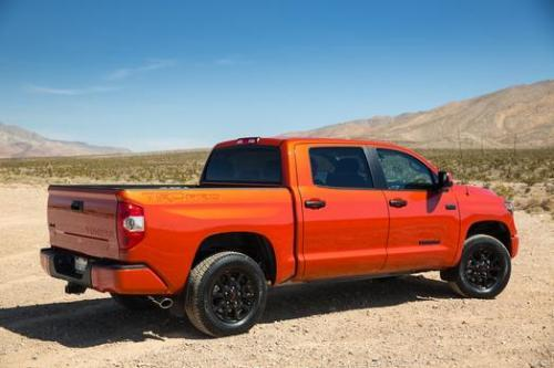 Photo Image Gallery & Touchup Paint: Toyota Tundra in Inferno    (4X0)  YEARS: 2015-2015