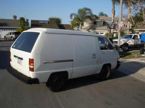 Photo Image Gallery & Touchup Paint: Toyota Van in White    (033)  YEARS: 1985-1987