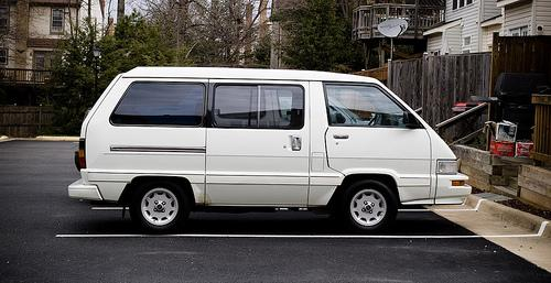 Photo Image Gallery & Touchup Paint: Toyota Van in White    (045)  YEARS: 1988-1989