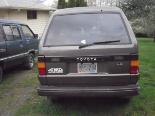 Photo Image Gallery & Touchup Paint: Toyota Van in Dark Gray Metallic  (155)  YEARS: 1988-1988