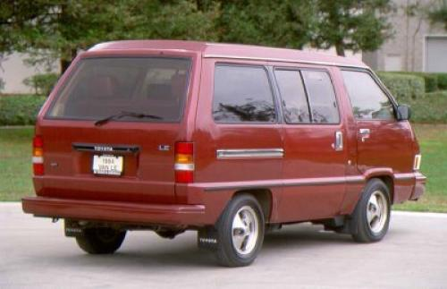 Photo Image Gallery & Touchup Paint: Toyota Van in Red Metallic   (379)  YEARS: 1984-1985