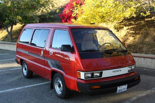 Photo Image Gallery & Touchup Paint: Toyota Van in Red    (3F3)  YEARS: 1985-1985