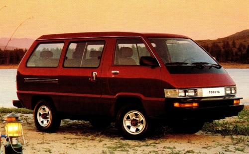 Photo Image Gallery & Touchup Paint: Toyota Van in Medium Red Pearl  (3H4)  YEARS: 1989-1989