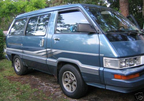 Photo Image Gallery & Touchup Paint: Toyota Van in Medium Blue Metallic  (8D4)  YEARS: 1986-1987