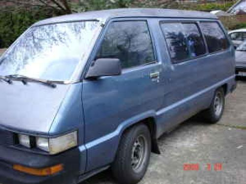 Photo Image Gallery & Touchup Paint: Toyota Van in Medium Blue Metallic  (8D7)  YEARS: 1988-1989
