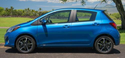Photo Image Gallery & Touchup Paint: Toyota Yaris in Blue Streak Metallic  (8T7)  YEARS: 2015-2017