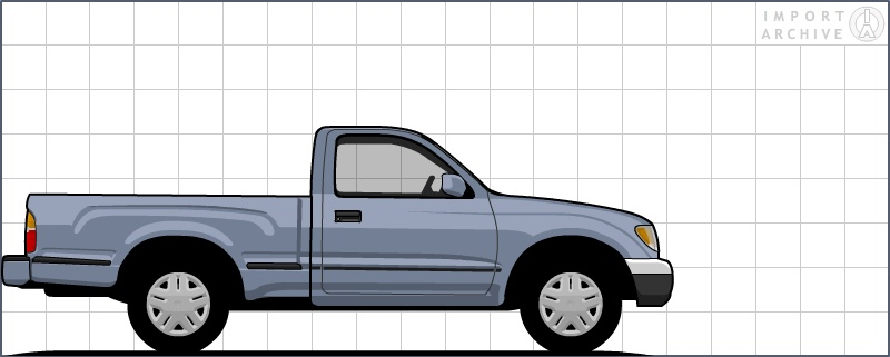 ImportArchive / Toyota Tacoma 1995‑2004 Touchup Paint Codes